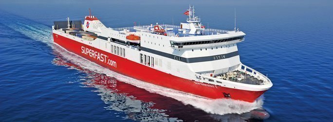 The ferry ship Superfast I belongs to the conventional vessel type