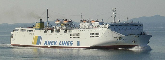 The ferry ship Kriti II belongs to the conventional vessel type