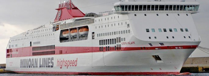 The ferry ship Europa Palace belongs to the conventional vessel type