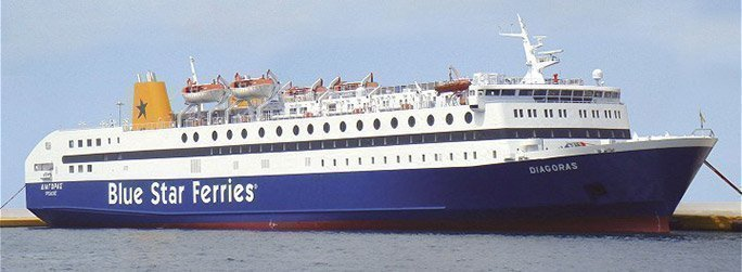 The ferry ship Diagoras belongs to the conventional vessel type