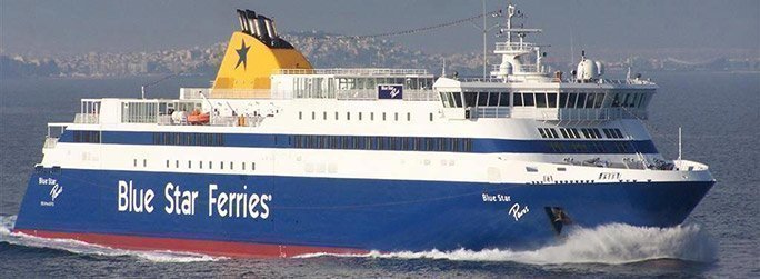 The ferry ship Blue Star Paros belongs to the conventional vessel type