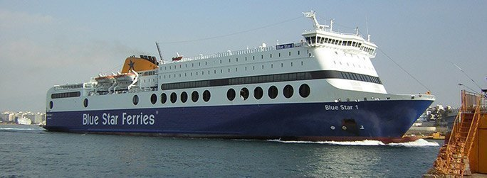 The ferry ship Blue Star I belongs to the conventional vessel type