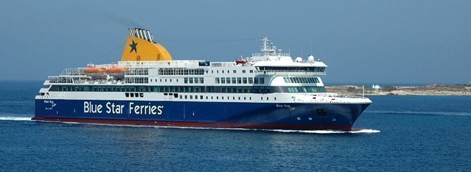 The ferry ship Blue Star Delos belongs to the conventional vessel type