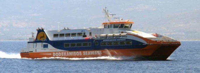 The ferry ship Dodekanisos Express is a catamaran that belongs to the high speed vessel type